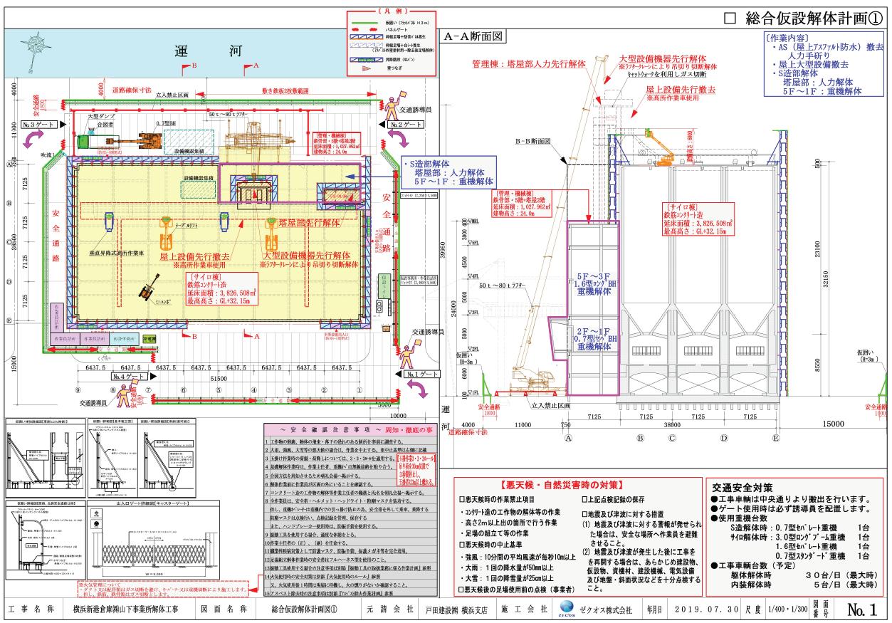 横浜新港倉庫㈱山下事業所解体工事