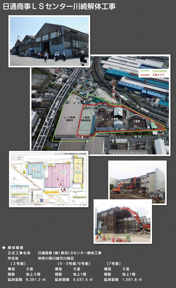 日通商事LSセンター川崎解体工事